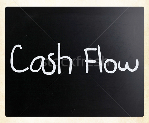 'Cash flow' handwritten with white chalk on a blackboard Stock photo © nenovbrothers