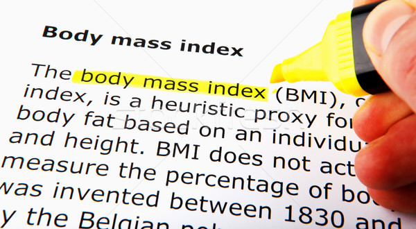 Body mass index Stock photo © nenovbrothers