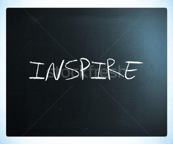 Inspirál kézzel írott fehér kréta iskolatábla siker Stock fotó © nenovbrothers