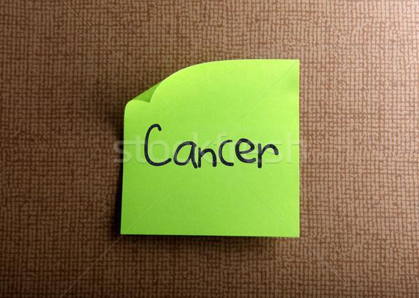 Cancro carta frame verde comunicazione pelle Foto d'archivio © nenovbrothers