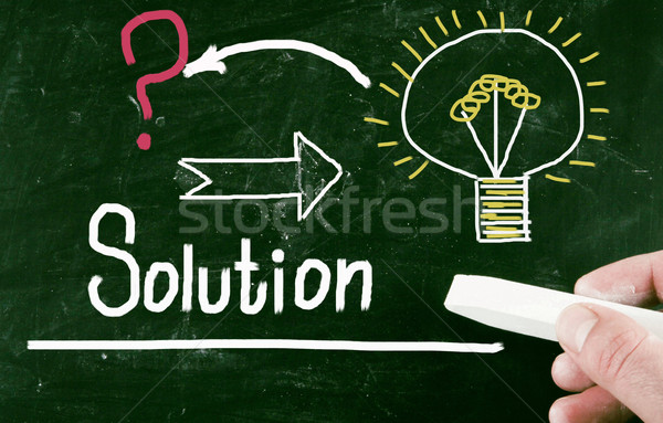 Stock photo: solution concept