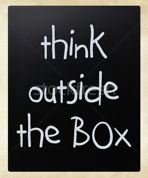 Think outside the box - concept  Stock photo © nenovbrothers