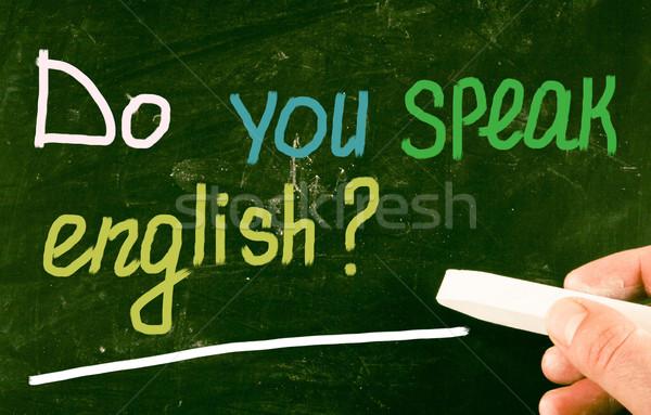 do you speak english? Stock photo © nenovbrothers