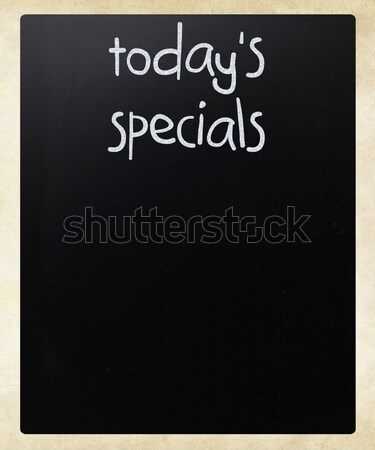 'Today's specials' handwritten with white chalk on a blackboard Stock photo © nenovbrothers