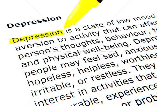 Depressie vrouw handen gezicht zwarte tiener Stockfoto © nenovbrothers