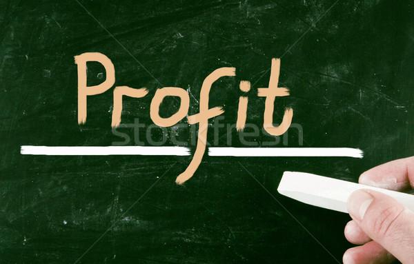 Stockfoto: Winst · bedrijf · Blackboard · visie · idee · project