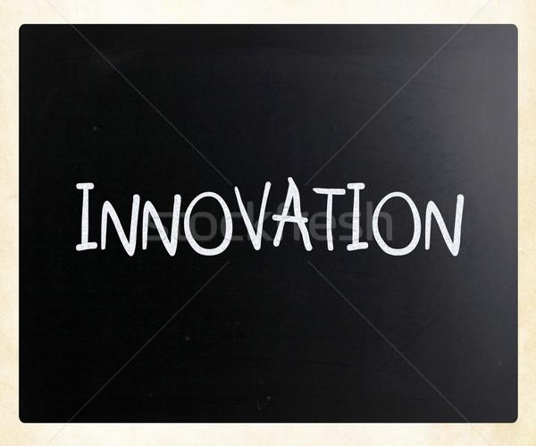革新 白 チョーク 黒板 ビジネス ストックフォト © nenovbrothers