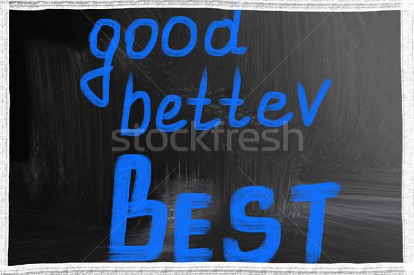 Jó jobb legjobb üzlet terv levél Stock fotó © nenovbrothers