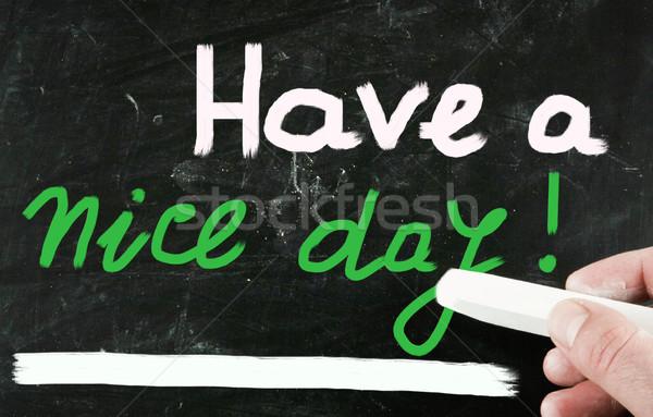 Szép nap üzlet iroda boldog felirat Stock fotó © nenovbrothers