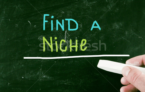 Trouver niche écrit communication Ouvrir la bord Photo stock © nenovbrothers