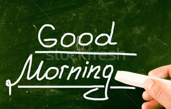 ストックフォト: おはようございます · 太陽 · 日の出 · エネルギー · 朝食 · 白