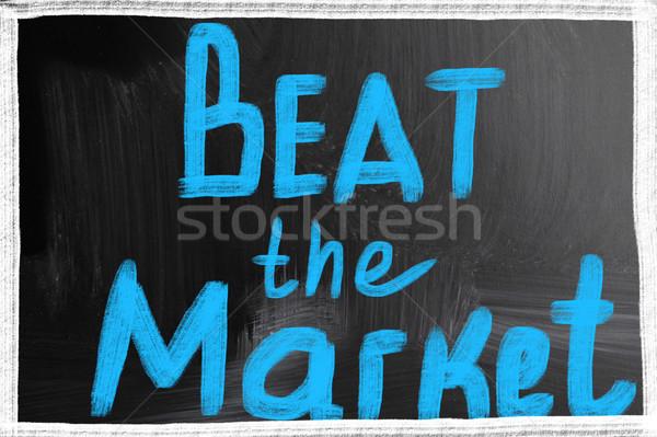 Slaan markt uitvoerende opleiding succes Blackboard Stockfoto © nenovbrothers
