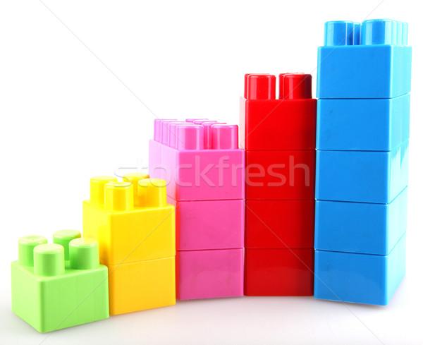 пластиковых блоки здании фон окна зеленый Сток-фото © nenovbrothers