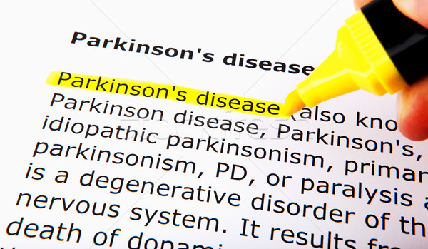 Parkinson's disease Stock photo © nenovbrothers