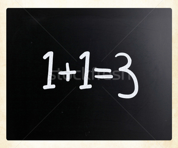 Handschriftlich weiß Kreide Tafel Bildung Klassenzimmer Stock foto © nenovbrothers