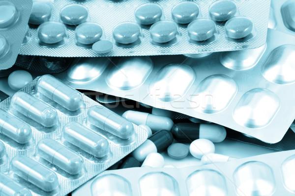 Pillen veel kleuren samen medische Stockfoto © nenovbrothers