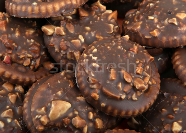 Stock photo: chocolate biscuits