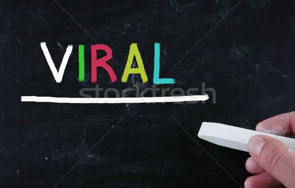 Virális épület marketing információ keresés média Stock fotó © nenovbrothers