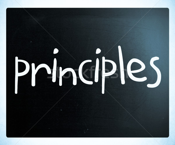 'Principles' handwritten with white chalk on a blackboard Stock photo © nenovbrothers
