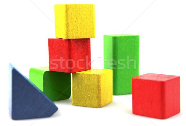 Zdjęcia stock: Budynków · wielokondygnacyjnych · budowy · dziecko · tle · niebieski
