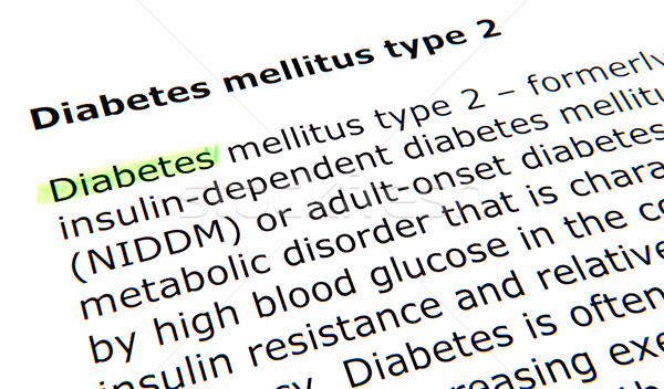 Diabetes mellitus type 2 Stock photo © nenovbrothers