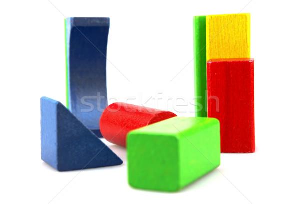 Zdjęcia stock: Budynków · wielokondygnacyjnych · budowy · dziecko · projektu · niebieski
