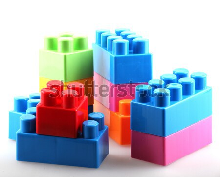 Plastic bouwstenen achtergrond vak groene Blauw Stockfoto © nenovbrothers