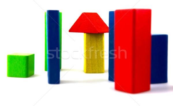 блоки изолированный белый фон зеленый Сток-фото © nenovbrothers