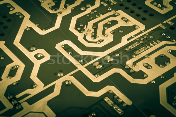 computer board with chips and components Stock photo © nenovbrothers