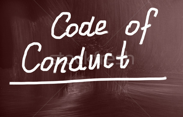 code of conduct concept Stock photo © nenovbrothers