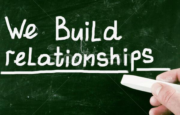 Construir relações negócio profissional desenho cliente Foto stock © nenovbrothers