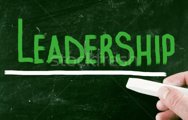 Leiderschap hand onderwijs communicatie witte presentatie Stockfoto © nenovbrothers