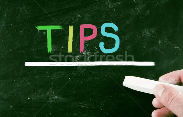 Tippek terv segítség iskolatábla tábla rajz Stock fotó © nenovbrothers
