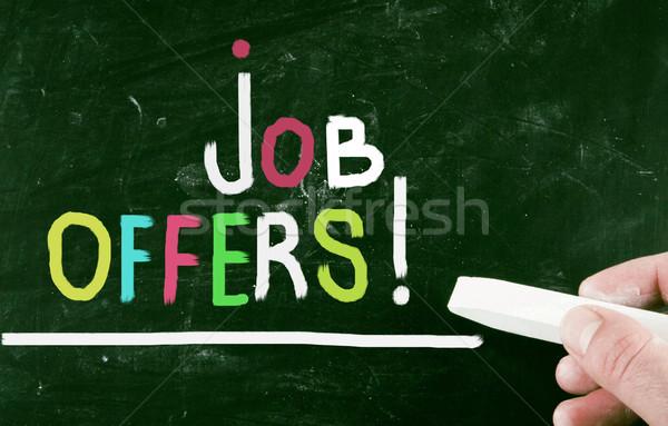 job offers concept Stock photo © nenovbrothers