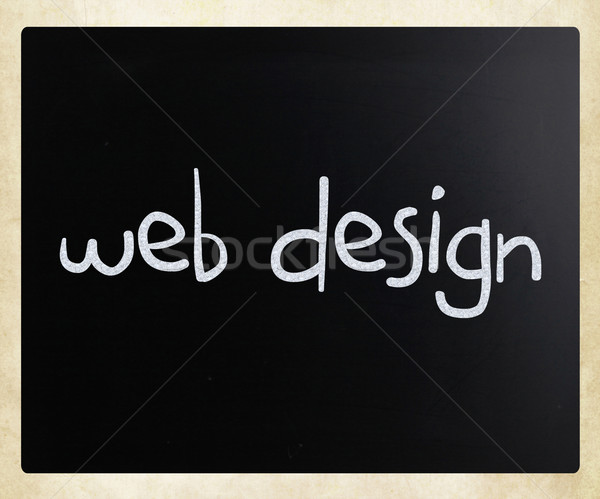 'Web design' handwritten with white chalk on a blackboard Stock photo © nenovbrothers