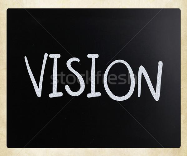 Vision blanche craie tableau noir affaires Photo stock © nenovbrothers