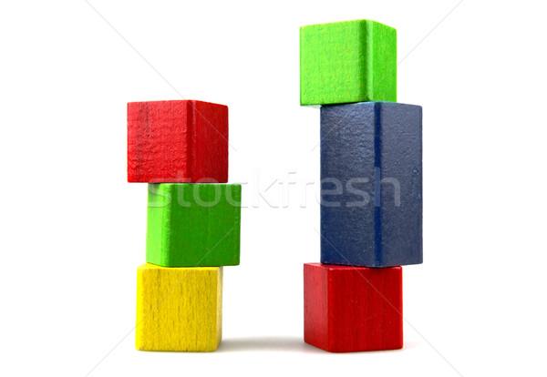 Blocos de construção construção criança projeto fundo Foto stock © nenovbrothers