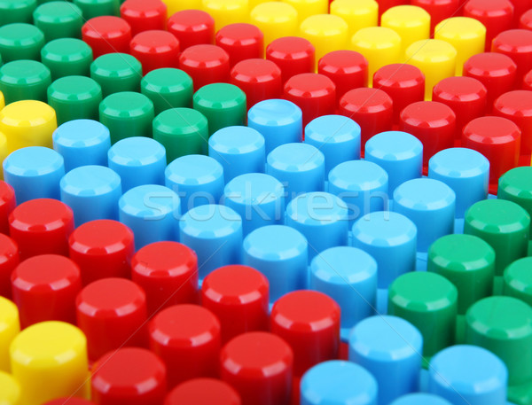 色 幼稚な ブロック 建物 子供 学校 ストックフォト © nenovbrothers