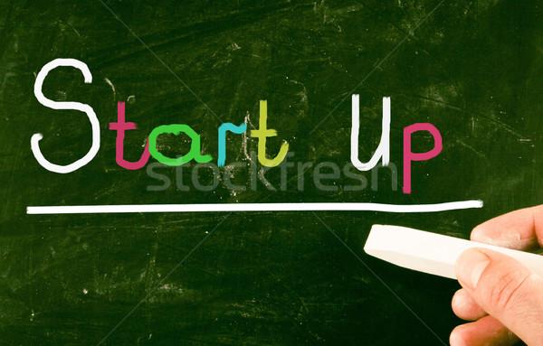 Inicio empresa pizarra visión idea proyecto Foto stock © nenovbrothers