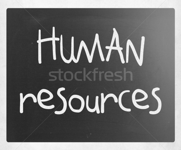 Humanos recursos blanco tiza pizarra Foto stock © nenovbrothers
