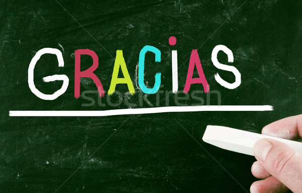gracias concept Stock photo © nenovbrothers