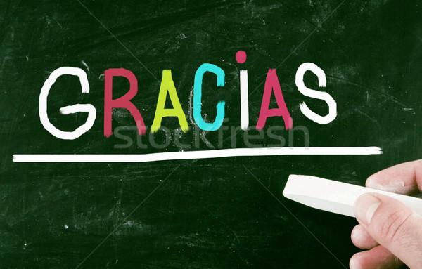 Design signe lettre espagnol signature Mexique Photo stock © nenovbrothers
