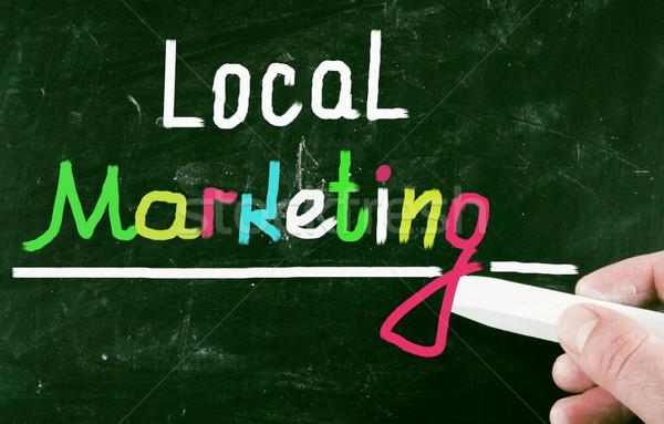 Helyi marketing üzlet tanár szolgáltatás bemutató Stock fotó © nenovbrothers