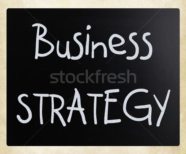 üzleti stratégia kézzel írott fehér kréta iskolatábla üzlet Stock fotó © nenovbrothers