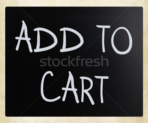 'Add to cart' handwritten with white chalk on a blackboard Stock photo © nenovbrothers