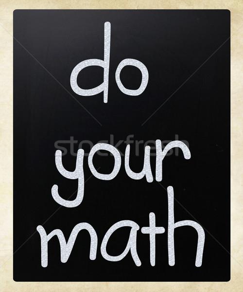 Math manoscritto bianco gesso lavagna Foto d'archivio © nenovbrothers