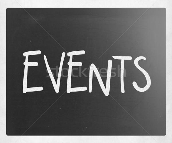 Evenementen witte krijt Blackboard frame Stockfoto © nenovbrothers