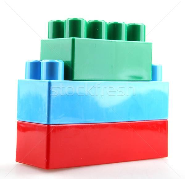 color childish blocks to the building Stock photo © nenovbrothers