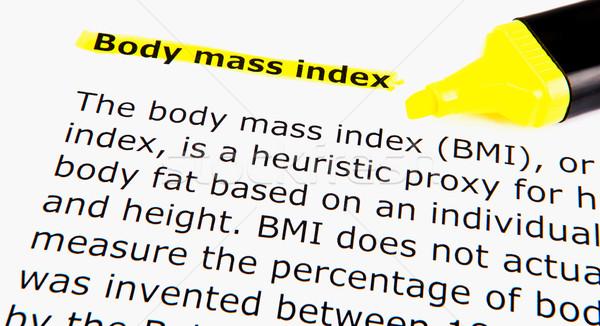 Cuerpo masa alimentos fitness ejercicio dieta Foto stock © nenovbrothers