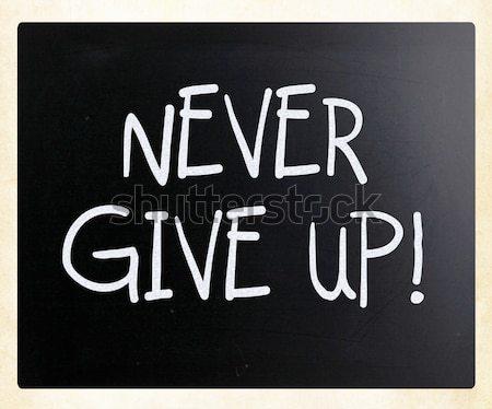'Overweight' handwritten with white chalk on a blackboard Stock photo © nenovbrothers